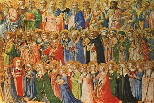 All Saints painting by Fra Angelico
